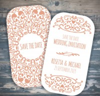 Wedding invitations are on the reverse side