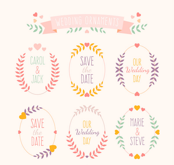 Wedding pattern label