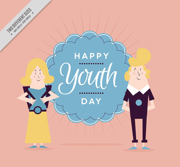 Youth Day greeting card vector