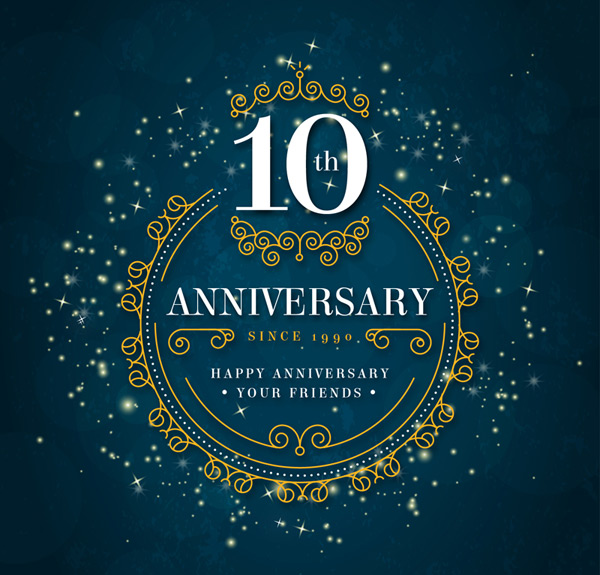 10th anniversary commemorative cards