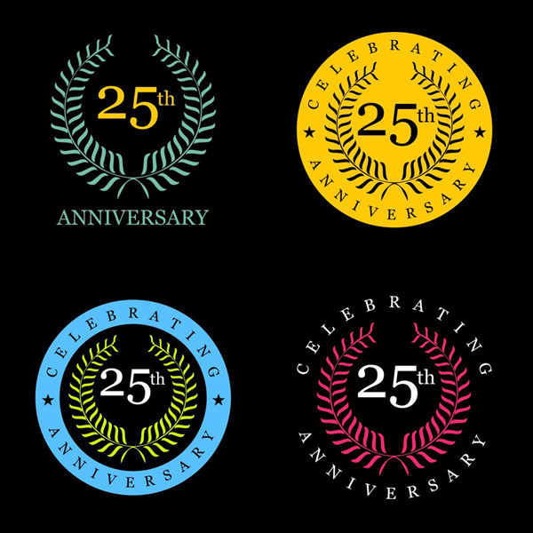 25th anniversary commemorative badges