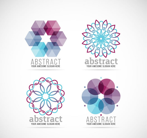 Abstract flower shaped business logo