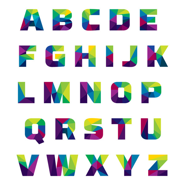 Abstract spell letters