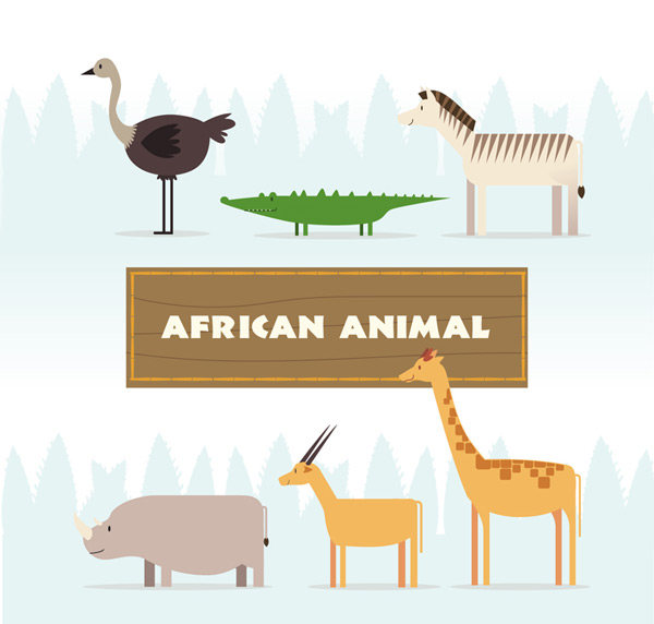 African animal side