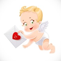 Angel with love letter