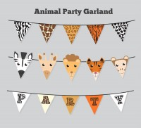 Animal triangle flag