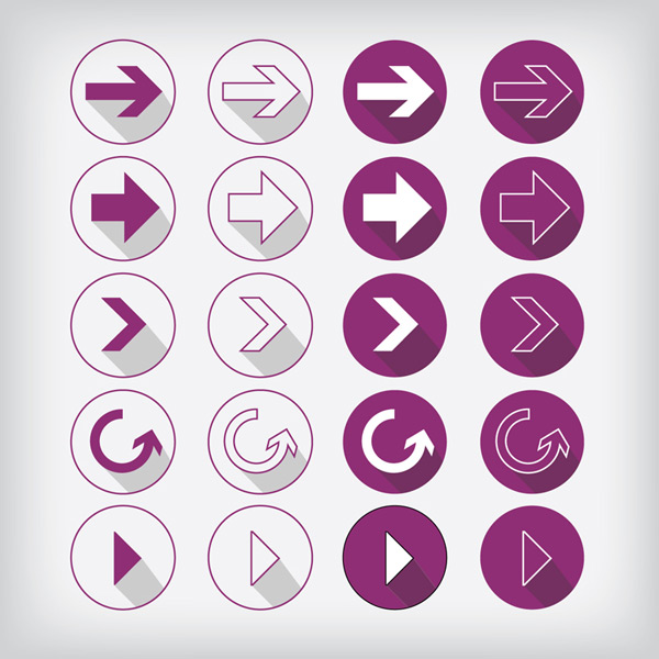 Arrow icon vector