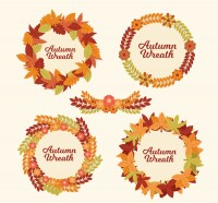 Autumn foliage garlands