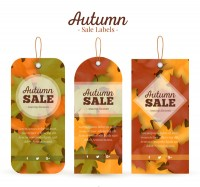 Autumn leaf decoration tag