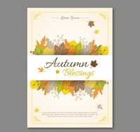 Autumn leaves blessing card