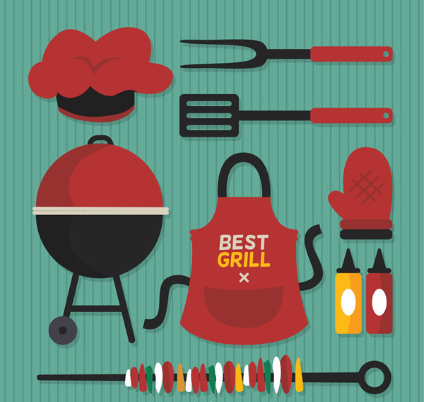 BBQ supplies vector