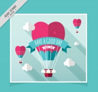 Balloon card vector