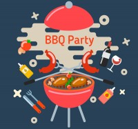 Barbecue party illustration