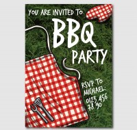Barbecue party invitation Poster