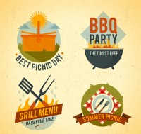 Barbecue party picnic tag