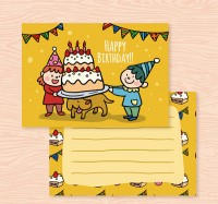 Birthday card for children