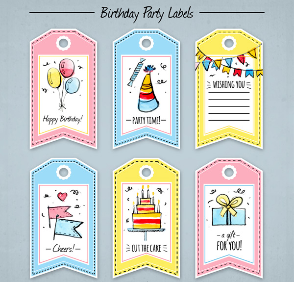 Birthday element tags