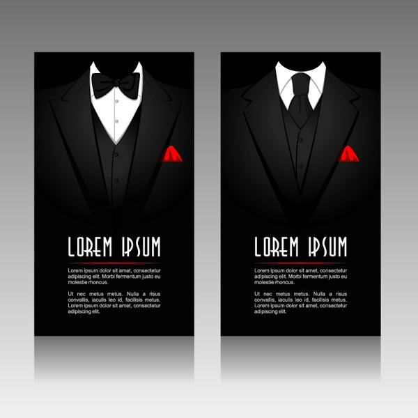 Black suit card