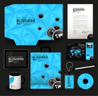 Blue business VI template