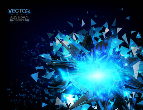 Blue shard vector