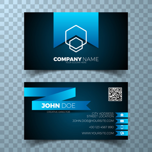 Blue tag card