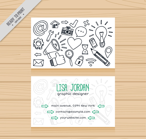 Business element card