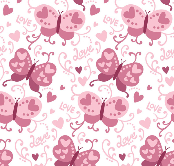 Butterfly love background