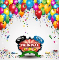 Carnival balloon background