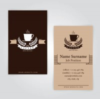 Coffee cup pattern card