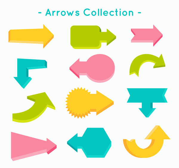 Color arrow design