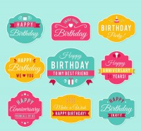 Color birthday blessing label