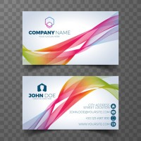 Colorful curve name card