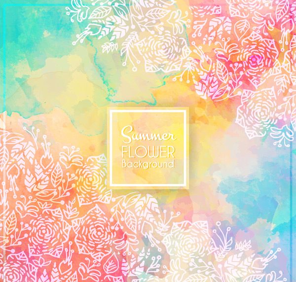 Colorful summer flower background