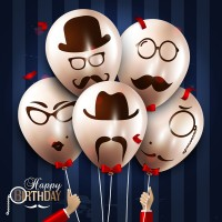 Creative birthday balloon bundle