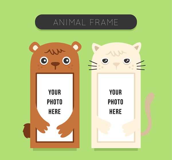 Cute animal photo frame