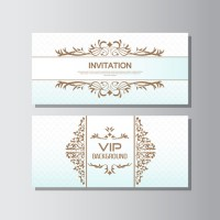 Decorative pattern VIP card