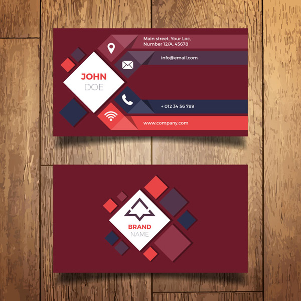 Diamond decoration business card