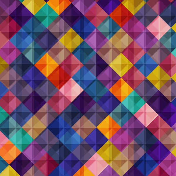 Diamond mosaic background