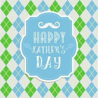 Diamond shaped father s Day card