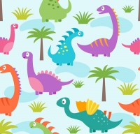 Dinosaur and plant background