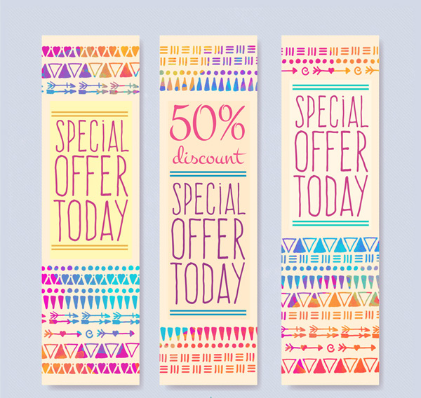 Discount vertical version banner