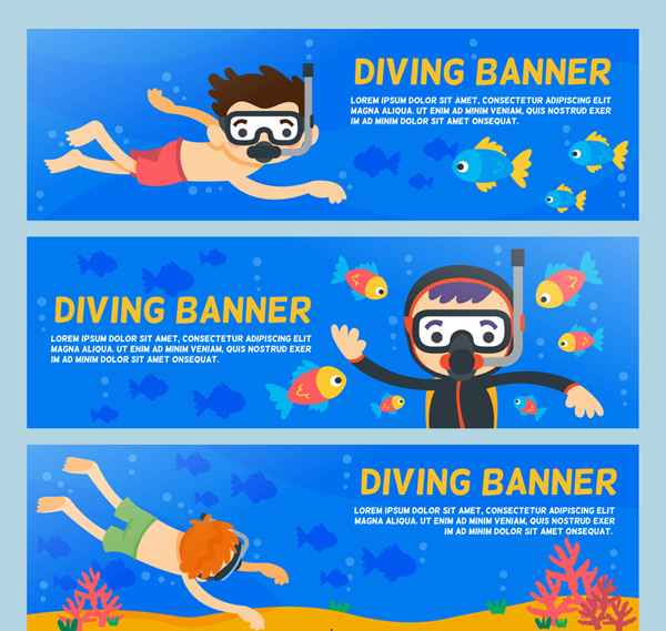 Diving character banner