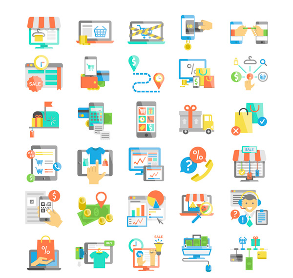 E commerce icon vector