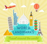 Famous landmarks in the world
