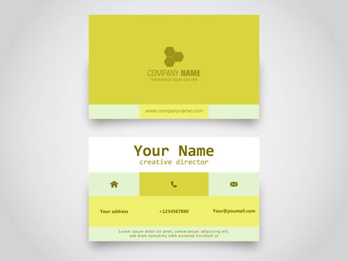 Fashion format business card design