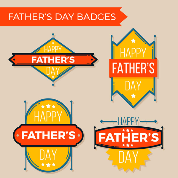 Father s Day badge vector