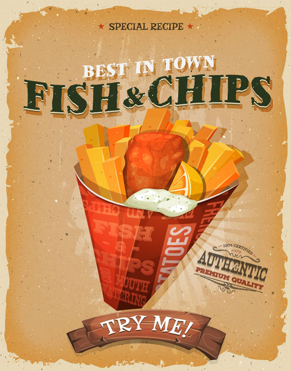 Fish and chips posters