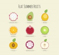 Flat fruit section