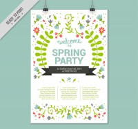 Flower spring party Poster
