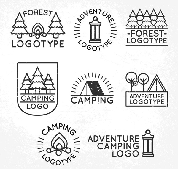 Forest camping sign